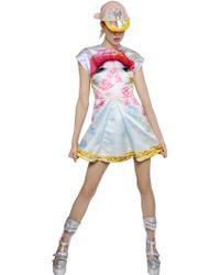 Manish Arora Printed Duchesse Satin Dress multicolor - Lyst