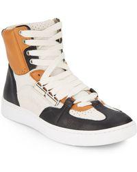 Alexander McQueen x Puma Joust Mid Iv Leather Sneaker - Lyst