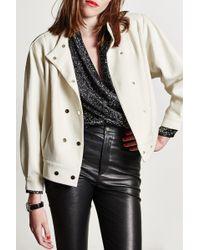 Carolina Ritz | Off White Wool Bomber | Lyst