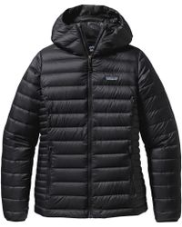 Patagonia Down Sweater Hooded Jacket - Black