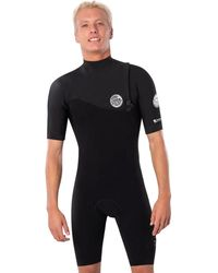 Rip Curl E-bomb 2/2 Bg Zip-free Short-sleeve Springsuit - Black