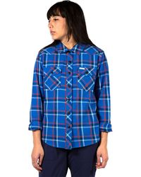 Topo Designs Mountain Plaid Shirt - Blue