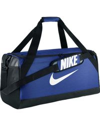 Nike - Brasilia Medium Duffel Bag (midnight Navy/black/white) Duffel Bags - Lyst