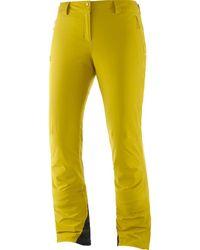 Salomon Icemania Insulated Pant - Yellow