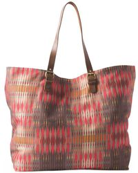 Prana Slouch Tote (carmine Desert Geo) Tote Handbags - Red
