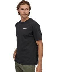 Patagonia P-6 Logo Short-sleeve Responsibili-t-shirt - Black