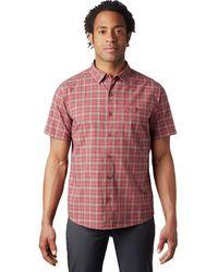 Mountain Hardwear Big Cottonwood Short-sleeve Shirt - Red