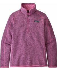 Patagonia Better Sweater 1/4-zip Fleece Jacket - Purple