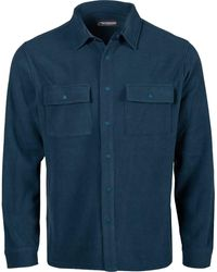 Mountain Khakis Apex Pop Top Classic Fit Shirtjac - Blue