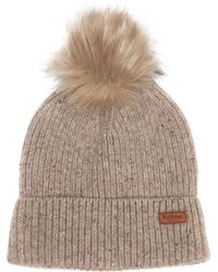 9025f06931d Lyst - Barbour Dover Pom Beanie in Brown