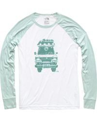 ae20dbd94b7 Lyst - The North Face Tenaya 3 4 Sleeve Baseball Tee in Green