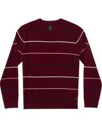 RVCA Alex Stripe Crew Sweater - Red