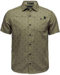 Black Diamond Solution Short-sleeve Shirt - Green