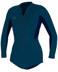 O'neill Sportswear Bahia 2/1 Front-zip Long-sleeve Surf Suit - Blue