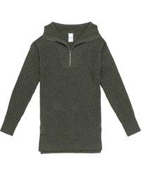 Lolë Evelyn Long Funnel Sweater - Green