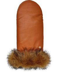 UGG Leather Mitten - Brown