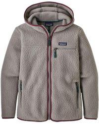 Patagonia Retro Pile Hooded Jacket - Gray