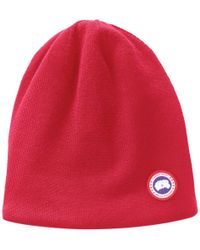 20399d757ad Lyst - Canada Goose Boreal Slouchy Beanie in Blue for Men