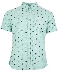 United By Blue Norde Stretch Short-sleeve Button-up - Green