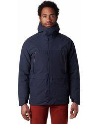 Mountain Hardwear Summit Shadow Gtx Down Hooded Jacket - Blue
