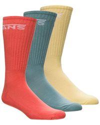 Vans Classic Crew Socks - 3-pack - Blue
