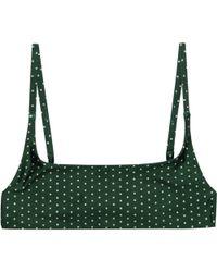 Stone Fox Hacienda Bikini Top - Green