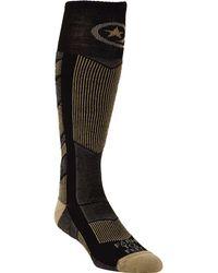 FARM TO FEET Park City Midweight Chevron Knit Ski Sock - Black
