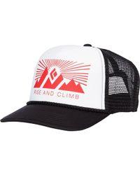 a2ebbb237c1 Black Diamond - Flat Bill Trucker Hat - Lyst