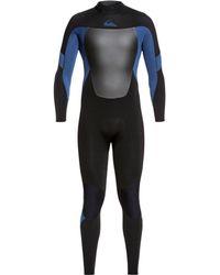 Quiksilver 4/3 Syncro Back-zip Gbs Wetsuit - Black