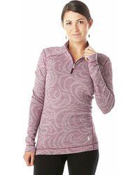 Smartwool Midweight Pattern Zip Top - Purple