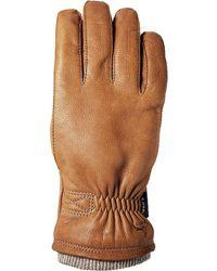 Hestra Deerskin Swisswool Rib Cuff Glove - Brown