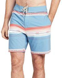 "Faherty Brand Classic Boardshort (7"") - Blue"