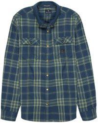 Roark Revival Nordsman Long-sleeve Flannel Shirt - Blue