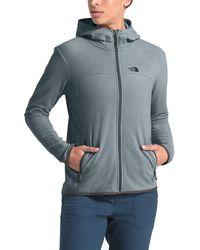 The North Face Tka Glacier Full-zip Hooded Fleece Jacket - Gray