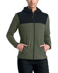 The North Face Tka Glacier Full-zip Hooded Fleece Jacket - Green
