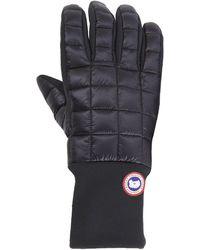 Canada Goose Ladies Leather Rib Glove In Black For Men Lyst