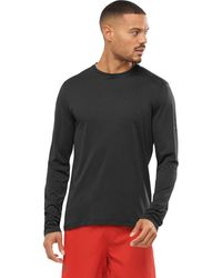 Salomon Agile Long-sleeve T-shirt - Black