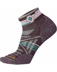 Smartwool Phd Outdoor Light Pattern Mini Sock - Purple