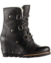 Sorel | Joan Of Arctic Wedge Mid Shearling Boot | Lyst