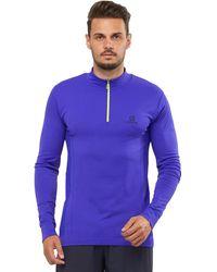 Salomon Explore Seamless Half-zip Shirt - Blue