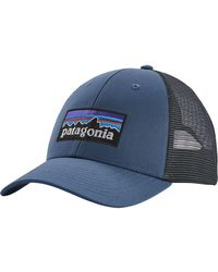 3710e8e89 Patagonia P6 Lopro Trucker Hat in Blue for Men - Lyst