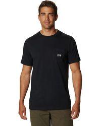 Mountain Hardwear Logo Label Short-sleeve Pocket T-shirt - Black