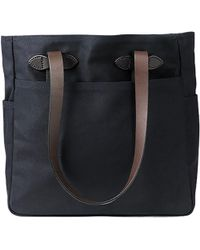 Filson Rugged Twill Tote Bag With Zipper Navy - Blue
