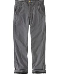Carhartt Rugged Flex Rigby Dungaree Knit Lined Pant - Gray