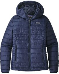 Patagonia Quilted Water Resistant Down Coat - Blue