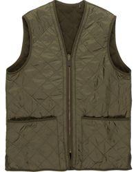 Barbour - Polarquilt Waistcoat Zip-in Liner Vest - Lyst