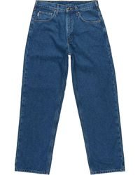 Carhartt Relaxed-fit Straight-leg Flannel Lined Jean - Blue