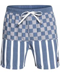 Quiksilver - Check Magnet 17in Swim Trunk - Lyst