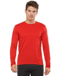 Salomon Agile Long-sleeve T-shirt - Red