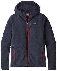 Patagonia Performance Better Sweater Hooded Fleece Jacket - Blue